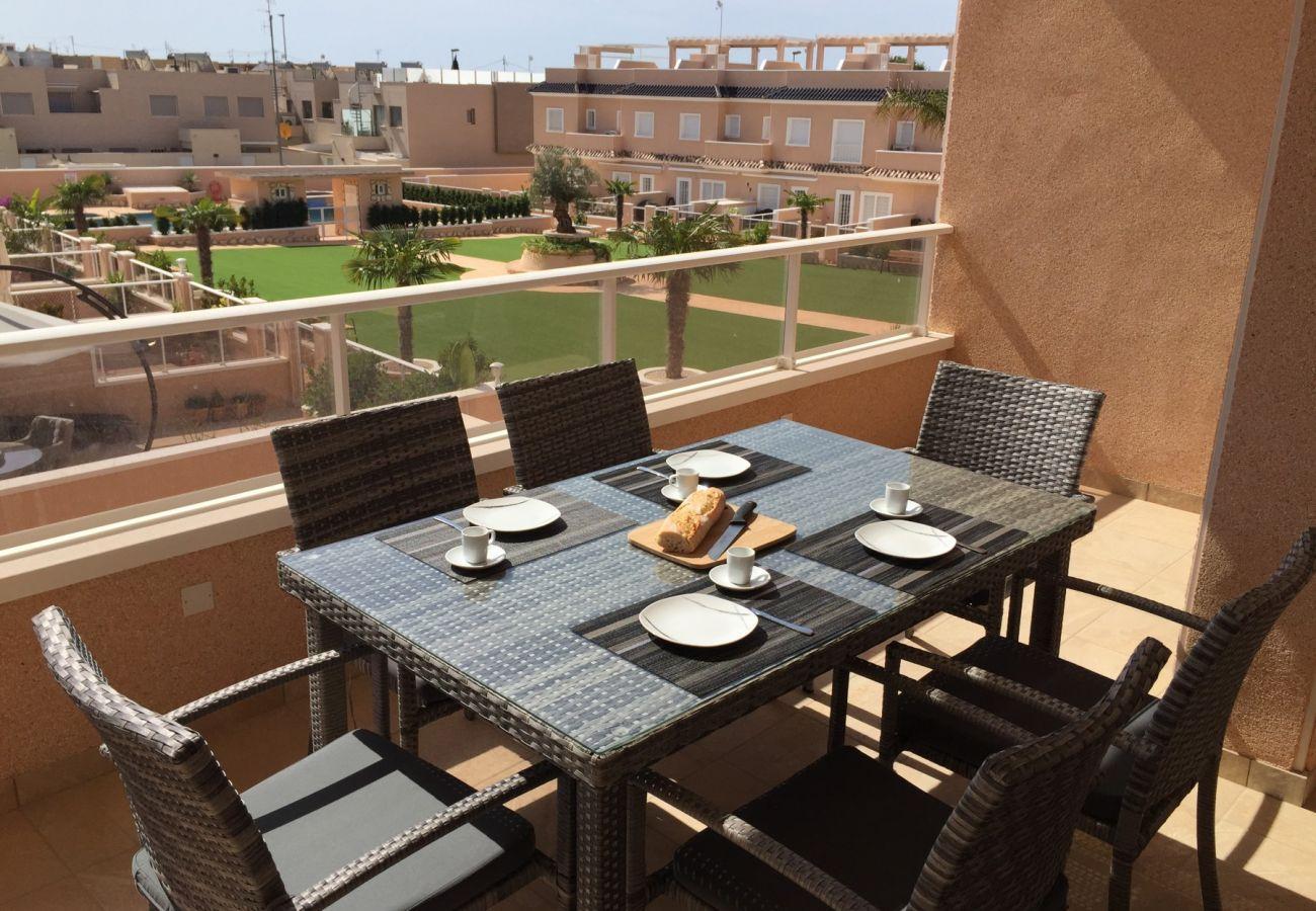 Zapholiday - 3027 - apartment Torre de la Horadada, Costa Blanca - terrace
