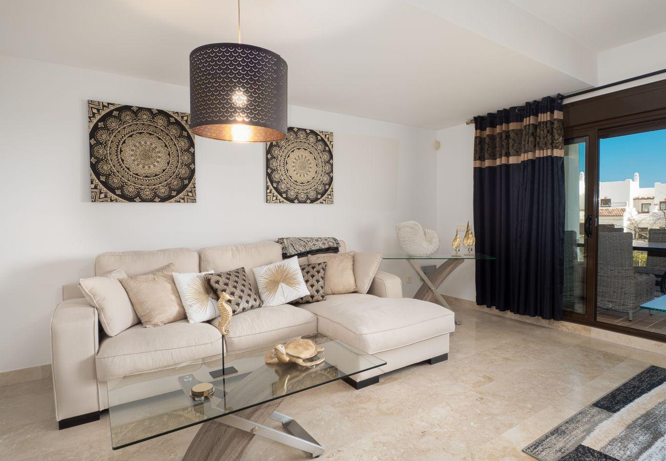 ZapHoliday - 2305 - apartment rental in La Alcaidesa, Costa del Sol - living room